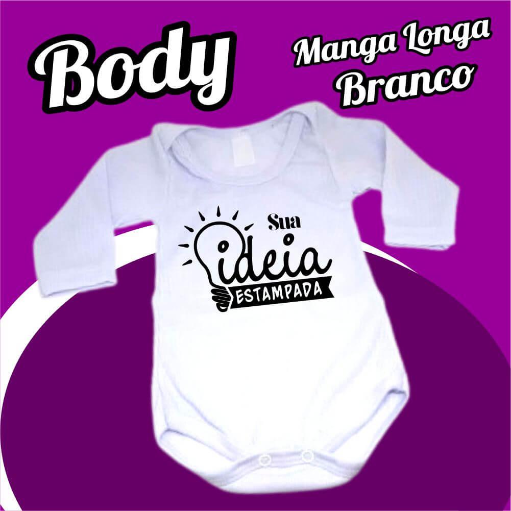 BODY Bebê Manga Longa – Branco
