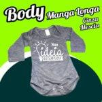 BODY Bebê Cinza Mescla – Manga Longa