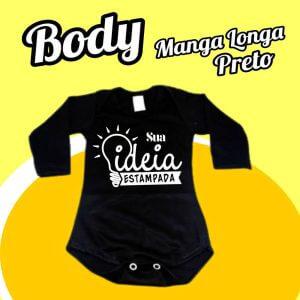 BODY Bebê Manga Longa – Preto
