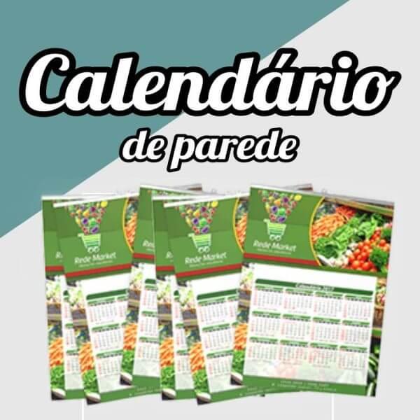 calendário parede