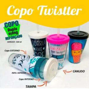 Copo twister duplo para colocar foto – Semi térmico