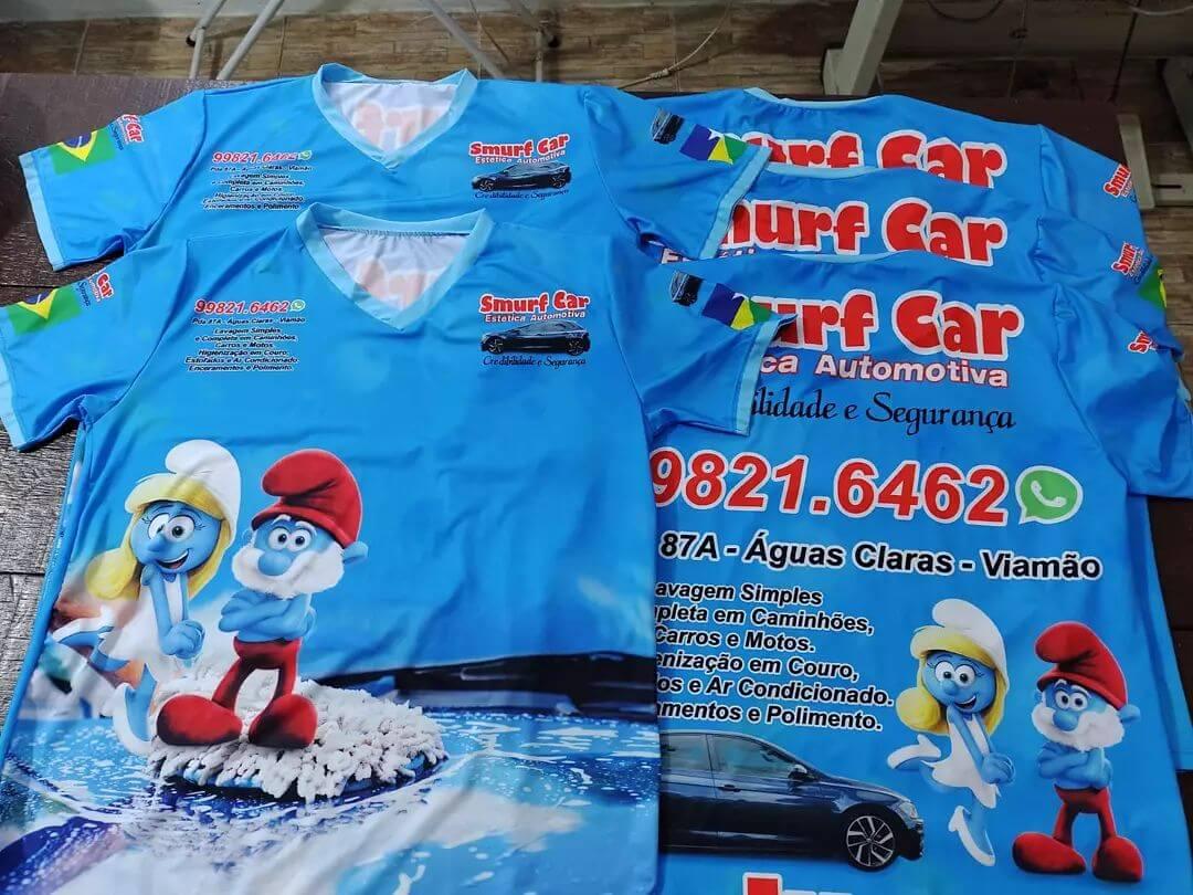 Camiseta Estampa Total Frente e Costas