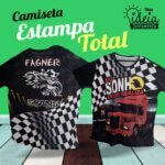 Camiseta Estampa Total Frente e Costas