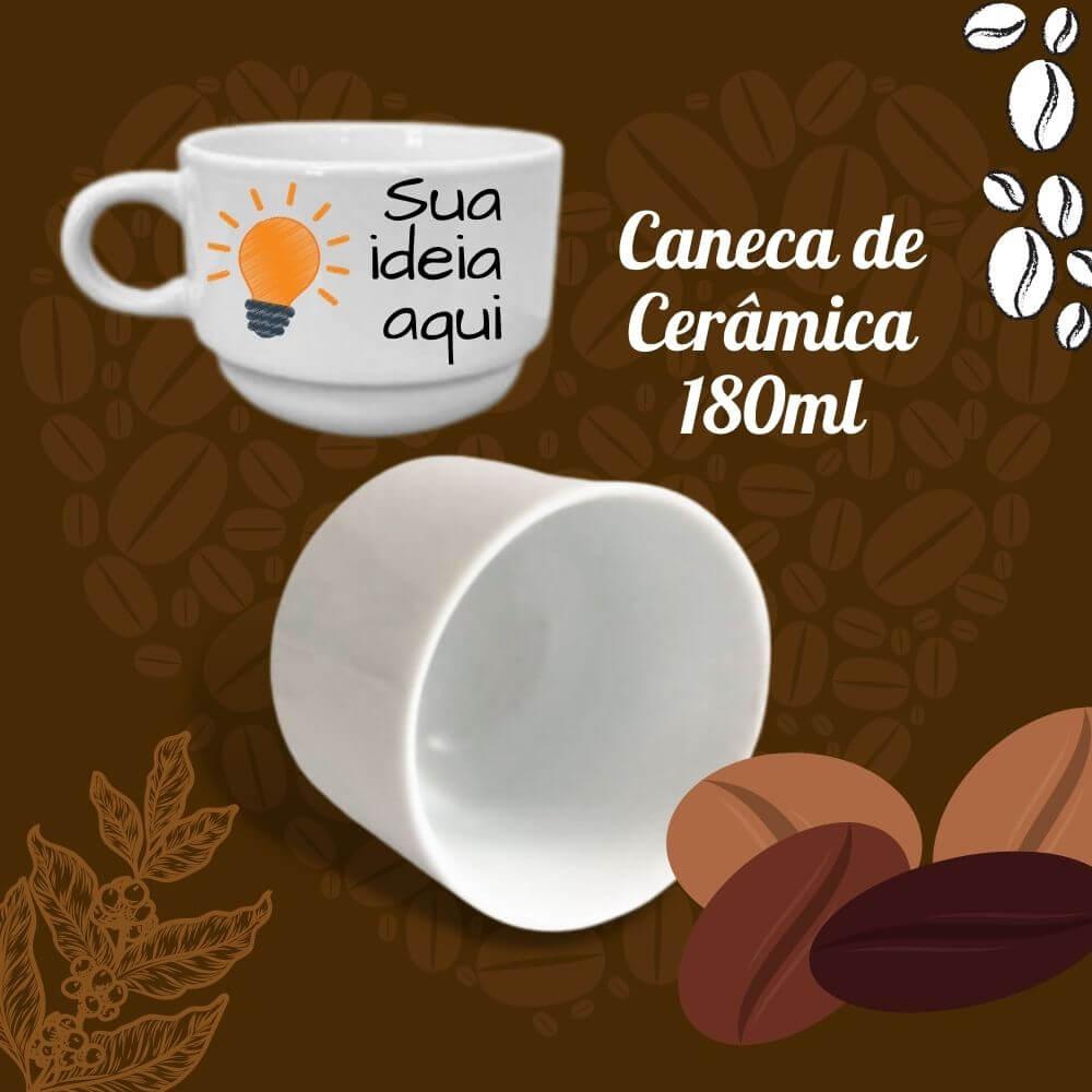 Caneca de Cerâmica 180ml